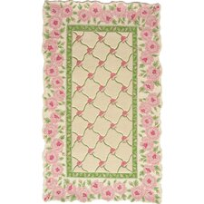 Rose Garland Ivory/Pink Area Rug