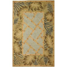 Tropical Palms and Bamboo Rug