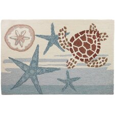 Coastal Turtle Novelty Rug