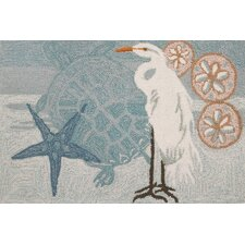 Coastal Egret Novelty Rug