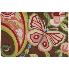 Paisley Butterfly Novelty Rug