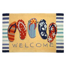 Welcome Sandals Rug