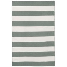 Sorrento Area Rugby Stripe Grey Indoor/Outdoor Area Rug