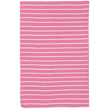Sorrento Pinstripe Pink Indoor/Outdoor Area Rug