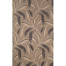 Ravella Neutral Leaf Outdoor Rug