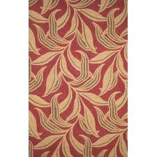Ravella Red Leaf Outdoor Rug