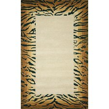 <strong>Trans-Ocean Rug</strong> Seville Brown Tiger Border Rug