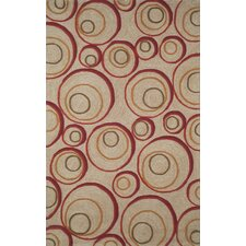 Spello Hoops Red Rug