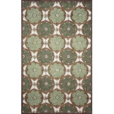 Ravella Lakai Circles Green Indoor / Outdoor Rug