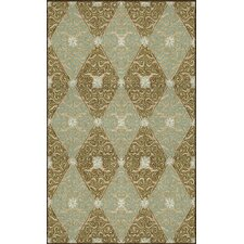 <strong>Trans-Ocean Rug</strong> Ravella Lakai Diamond Aqua Indoor / Outdoor Rug