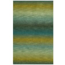 Ombre Ocean Stripes Rug