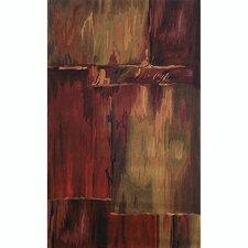 Inspirations Brushstrokes Burgundy Rug