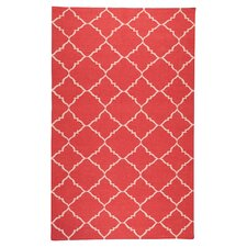 Frontier Red/White Area Rug