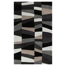 Cosmopolitan Charcoal Gray & Misty White Area Rug