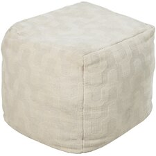 Muted Geometric Pouf