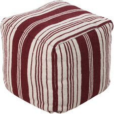 Brick Stripped Outdoor Pouf