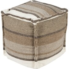 Sleek Stripe Pouf