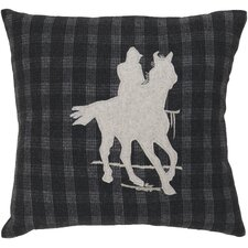 Take a Ride Plaid Pillow