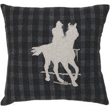 Take a Ride Plaid Pillow
