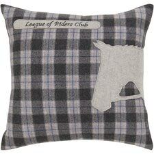 Riders Club Plaid Pillow