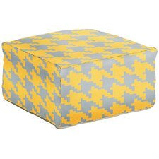 Heavenly Houndstooth Pouf