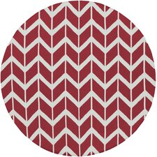 Fallon Red Chevron Rug