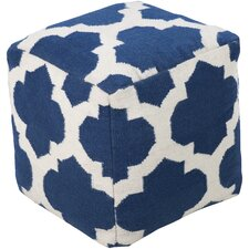Lavish Lattice Pouf Ottoman