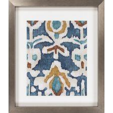Ocean Ikat I by Vision Studio Framed Graphic Art