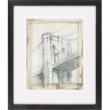 Brooklyn Bridge by Vision Studio Framed Graphic Art