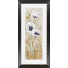 White Poppies I by Vision Studio Framed Graphic Art