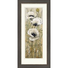 White Poppies II by Vision Studio Framed Graphic Art