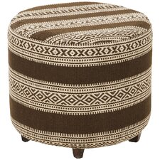 Royce Striped Ottoman