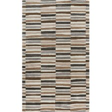 Young Life Striped Brown/Grey Area Rug