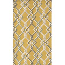 Rain Gold/Ivory Geometric Indoor/Outdoor Rug