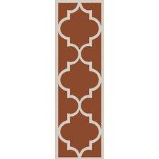Mamba Light Gray/Rust Geometric Rug