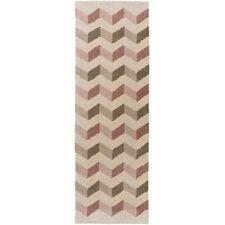Oasis Pink Chevron Area Rug