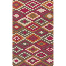 Rain Charcoal/Pink Geometric Indoor/Outdoor Area Rug