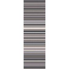 Mystique Gray Stripe Area Rug