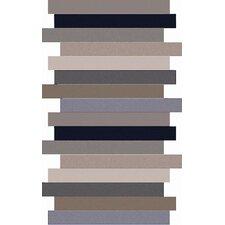 Geometrix Brown Striped Area Rug
