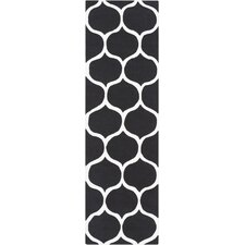 Mamba Black/Light Gray Geometric Area Rug