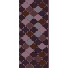 Mugal Mauve Geometric Area Rug