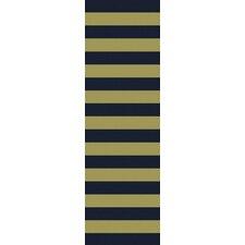 Cosmopolitan Lime/Navy Stripe Area Rug