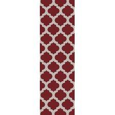Cosmopolitan Cherry/Light Gray Geometric Area Rug