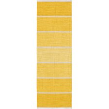 Calvin Sunflower/Beige Striped Area Rug
