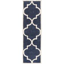Mamba Ivory/Navy Geometric Rug