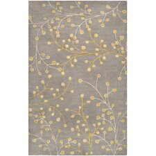 Athena Elephant Gray Area Rug