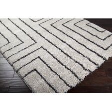 Kodiak White Charcoal Area Rug
