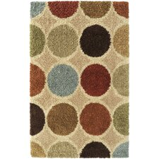 Concepts Circle Beige Multi Rug