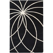 Forum Black/Ivory Area Rug
