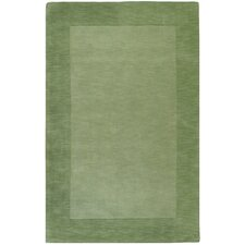 Mystique Green Border Rug